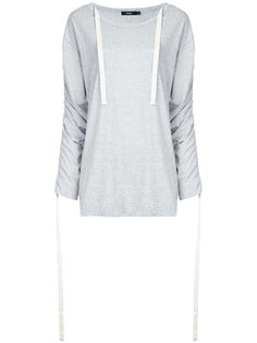 ruched sleeves T-shirt Bassike