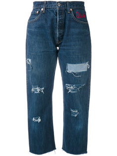 distressed cropped jeans Forte Couture