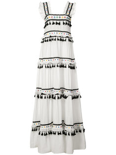tiered pompom maxi dress Dodo Bar Or