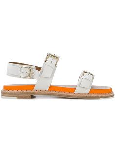 double strap sandals Flamingos
