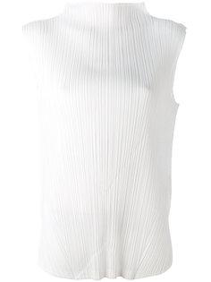 плиссированная блузка с высоким воротом Pleats Please By Issey Miyake
