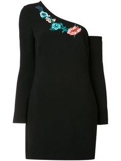 асимметричное платье с цветочным декором Rachel Zoe