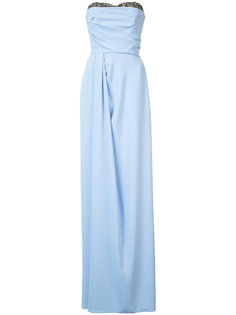 fitted maxi dress Marchesa Notte