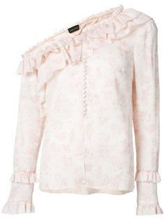 floral one shoulder blouse Magda Butrym