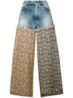 lurex and denim trousers Circus Hotel