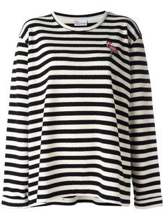 пуловер в полоску Red Valentino