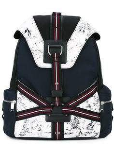three-tone canvas backpack Dior Homme