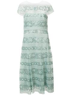 sequinned lace dress Tadashi Shoji