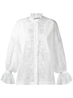 блузка с кружевными панелями Ermanno Scervino