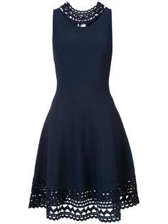 расклешенное платье с перфорацией Milly