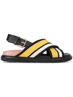сандалии с перекрещивающимися ремешками Fussbett  Marni
