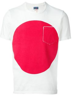 футболка с принтом круга Blue Blue Japan