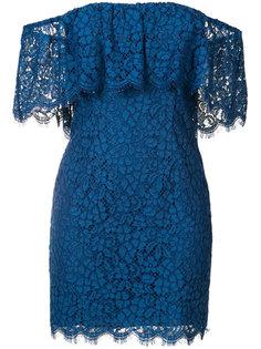платье с открытыми плечами с рюшами  Rachel Zoe