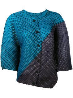 плиссированная асимметричная блузка Pleats Please By Issey Miyake