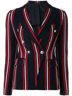 stripe print blazer Tagliatore