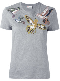 футболка с принтом птицы Red Valentino
