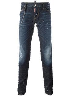 джинсы 'Slim' с цепочной окантовкой Dsquared2