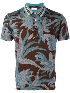 футболка-поло с растительным принтом Valentino