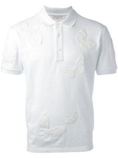 футболка-поло с аппликацией в виде бабочек Valentino