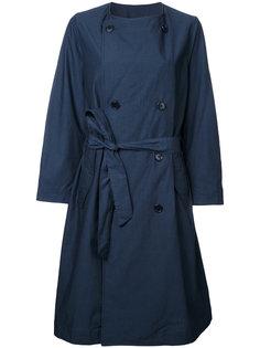 двубортное пальто с поясом En Route