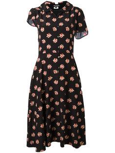 платье-рубашка с цветочным принтом Junya Watanabe Comme Des Garçons