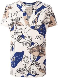 блузка с цветочным рисунком и V-образным вырезом Essentiel Antwerp