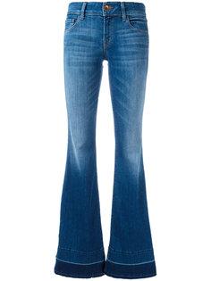 расклешенные джинсы со шлицами по бокам J Brand