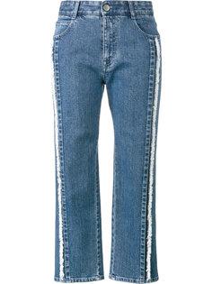 укороченные джинсы с бахромой Stella McCartney