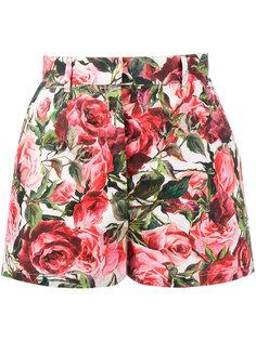 шорты с рисунком из роз Dolce & Gabbana
