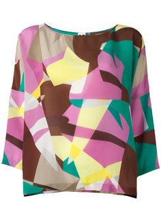 блузка с абстрактным узором M Missoni