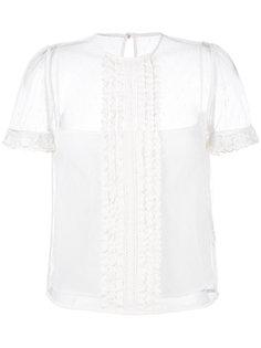 сетчатая блузка в горох Red Valentino