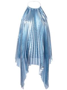 плиссированная блузка с отделкой металлик Ssheena