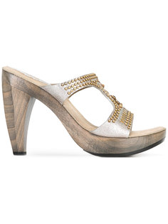 босоножки с заклепками на наборном каблуке Calleen Cordero
