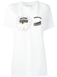 футболка с принтом глаз Chiara Ferragni