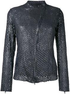 куртка с перфорацией Salvatore Santoro