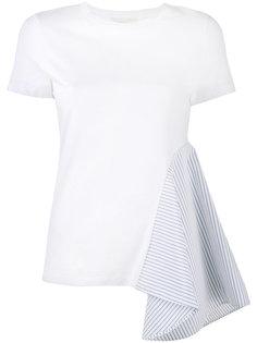 футболка с панелью в полоску Stella McCartney