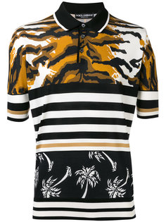 футболка с разными узорами Dolce & Gabbana
