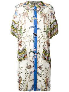 платье шифт с комбинированным принтом Tsumori Chisato
