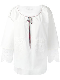 блузка с рюшами на рукавах Tsumori Chisato