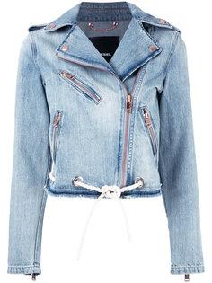 байкерская джинсовая куртка Diesel