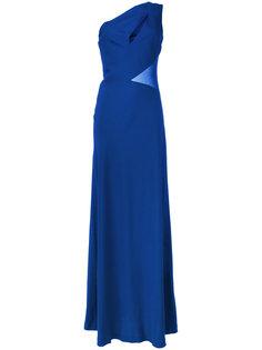 длинное платье на одно плечо Alberta Ferretti