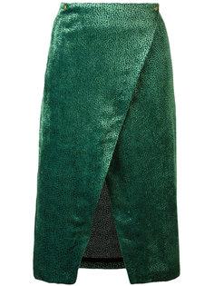 юбка из ткани деворе с запахом Roseanna