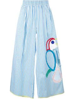 широкие брюки с вышивкой Mira Mikati