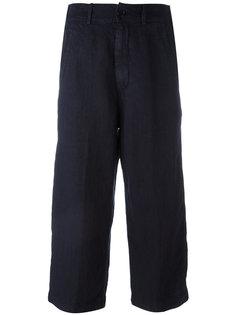 укороченные брюки свободного кроя Aspesi