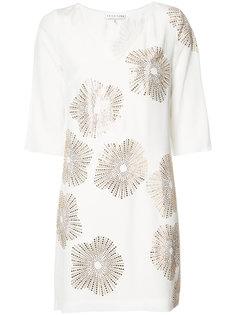 metallic print shift dress Trina Turk