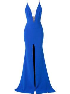 длинное платье с разрезом спереди Alex Perry