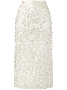 парчовая юбка с цветочным рисунком Rochas