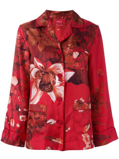 пижамная блузка с цветочным принтом F.R.S For Restless Sleepers
