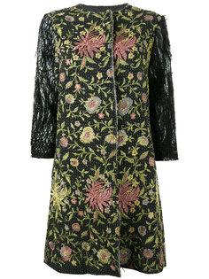 пальто с цветочной вышивкой By Walid