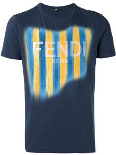 футболка с принтом логотипа Fendi